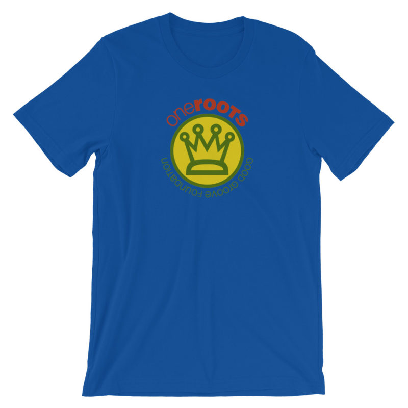 oneROOTS™ - King's Crown - T-Shirt - Royal Blue